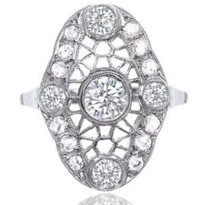 Web of Dreams... Original 1920s Platinum Diamond ring-0
