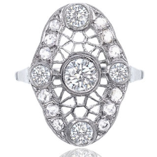 Web of Dreams... Original 1920s Platinum Diamond ring-0