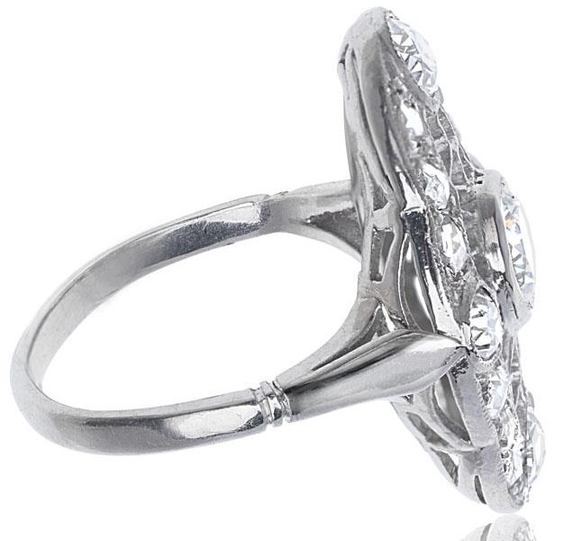 Web of Dreams... Original 1920s Platinum Diamond ring-2596