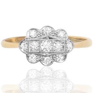Dazzling Deco... Original 1920s Diamond ring-0
