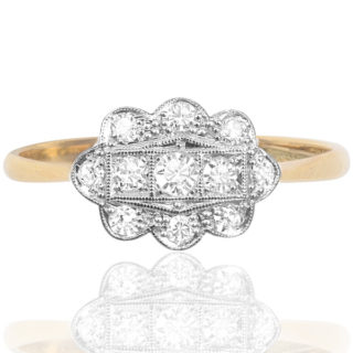 Dazzling Deco... Original 1920s Diamond ring-0