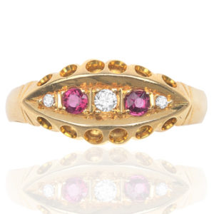 Antique Ruby and Diamond 'Gypsy' ring-0