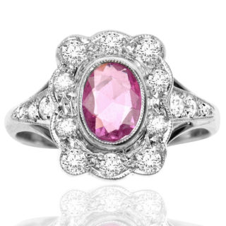***SOLD*** Glamorous... Pink Sapphire and Diamond ring -0