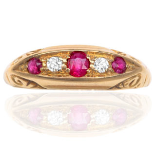 'Downton Abbey'... Edwardian Ruby and Diamond ring -0