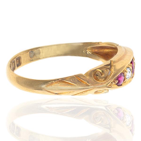 'Downton Abbey'... Edwardian Ruby and Diamond ring -2825
