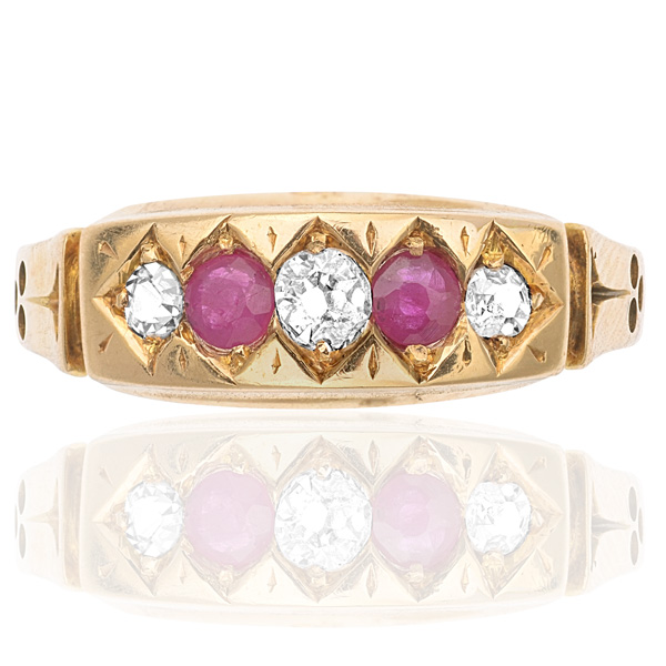 Belle of the Ball... Original Antique Ruby and Diamond ring-0