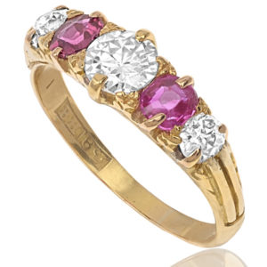 Victorian Ruby and Diamond ring -2884