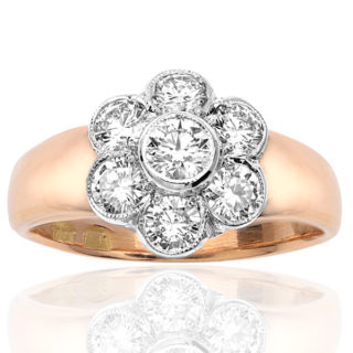 ***SOLD*** Spectacular... Large Diamond Daisy ring -0