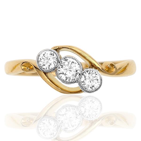 I LOVE You... Original Art Deco 'Trilogy' ring-0