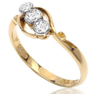 I LOVE You... Original Art Deco 'Trilogy' ring-2926