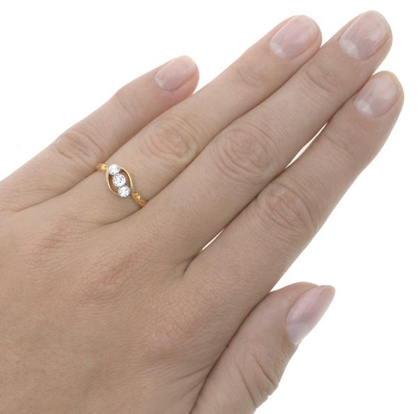I LOVE You... Original Art Deco 'Trilogy' ring-2928