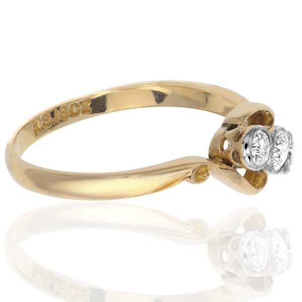 I LOVE You... Original Art Deco 'Trilogy' ring-2927