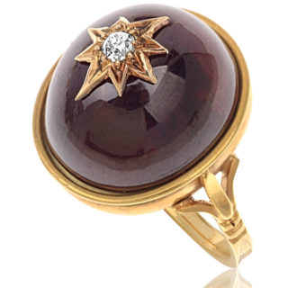 Sumptuous... Victorian Garnet and Diamond ring-0