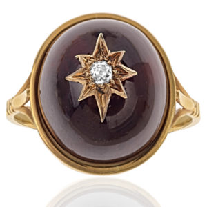 Sumptuous... Victorian Garnet and Diamond ring-2912