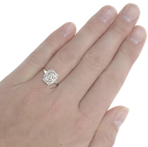 Cabaret... Original Art Deco Diamond Plaque ring-2980
