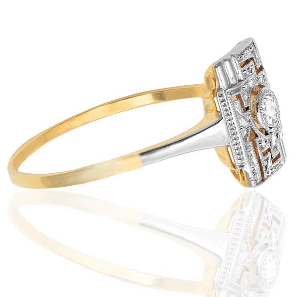 Cabaret... Original Art Deco Diamond Plaque ring-2979