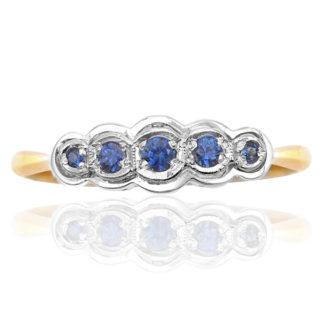 ***SOLD*** Original Art Deco Sapphire ring -0