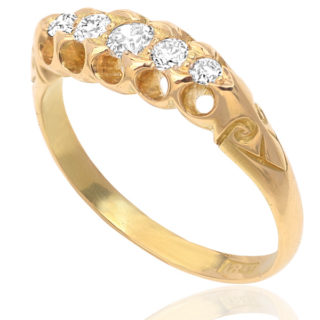 Edwardian Romance... Antique Diamond ring -0