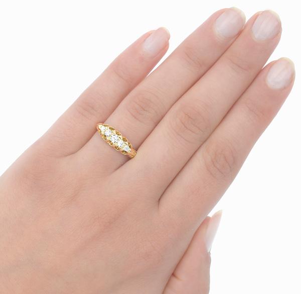 Edwardian Romance... Antique Diamond ring -2995