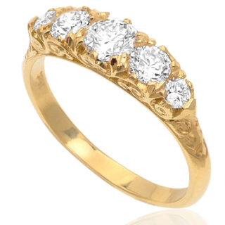 Antique style 5 stone Diamond ring -0