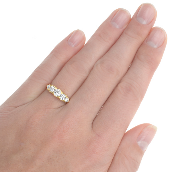 Antique style 5 stone Diamond ring -2999