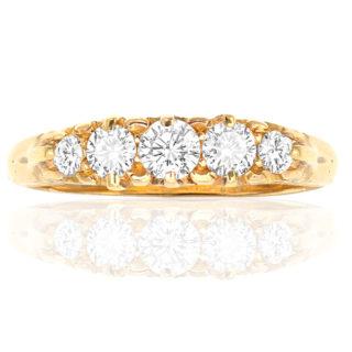 ***SOLD*** Victorian 5 stone Diamond ring -0