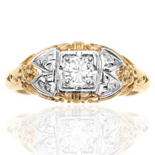 American Beauty... Original Art Deco Diamond ring -0