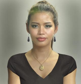 Handmade Onyx and Diamond earrings -3038