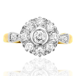 ***SOLD*** For You... Original Art Deco Diamond Daisy ring -0