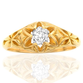 Star of the Show... Victorian Diamond ring -0
