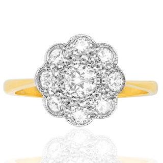***SOLD*** Sparkling Daisy... Original Art Deco Daisy ring -0