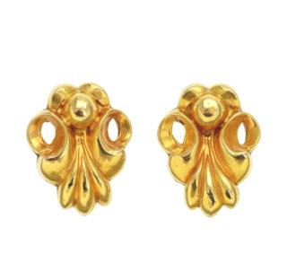 Original Art Nouveau Fleur de Lis earrings -0
