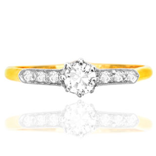 Her Heart... Original Art Deco Diamond Engagement ring-0