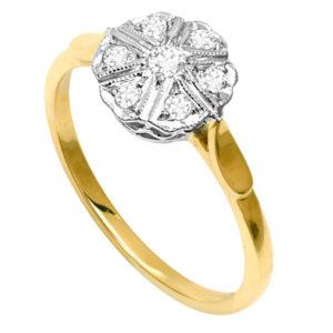 London Calling... Original Art Deco Diamond ring -0