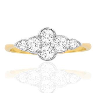 ***SOLD*** Cloud 9... Original Art Deco Diamond ring -0