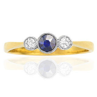 ***SOLD*** My Sweetheart... Original Art Deco Sapphire and Diamond ring -0