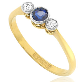 ***SOLD*** My Sweetheart... Original Art Deco Sapphire and Diamond ring -3142
