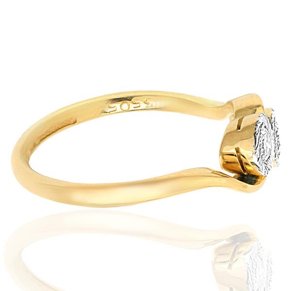 Two of Us... Original Art Deco Diamond ring -3122