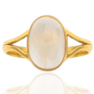 Moonbeams... Original Art Deco Moonstone ring -0