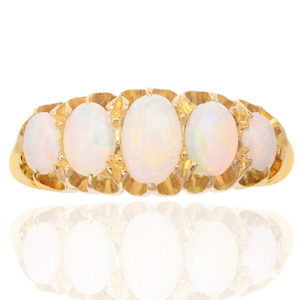 Antique 5 stone Opal ring -0