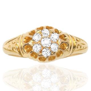Divine... Original Antique Diamond ring -0