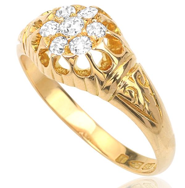 Divine... Original Antique Diamond ring -3320
