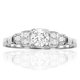 ***SOLD*** Snow White... Original Art Deco Diamond ring -0