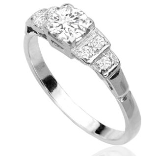 ***SOLD*** Snow White... Original Art Deco Diamond ring -3287