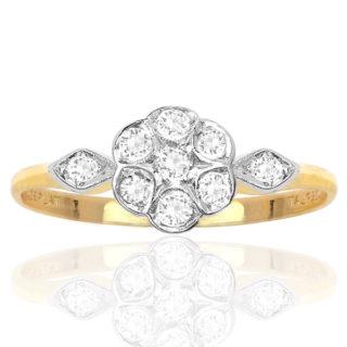 Daisy Daisy... Original Art Deco Diamond Daisy ring -0