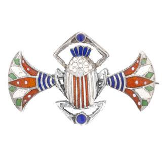 1920s Egyptian Revial Scarab Brooch -0