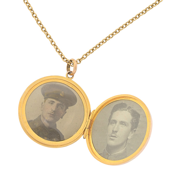 Heavenly... Antique Locket and Chain-3210