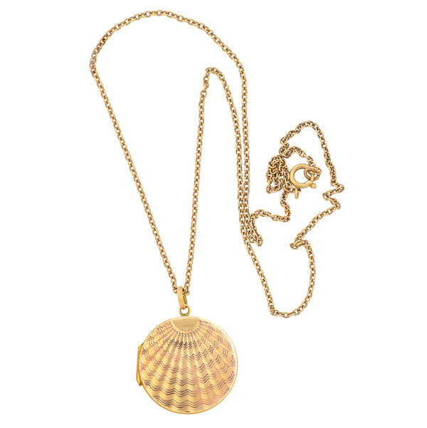 Heavenly... Antique Locket and Chain-0