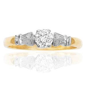 Be Mine... Original Art Deco Diamond Engagement ring -0