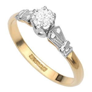 Be Mine... Original Art Deco Diamond Engagement ring -3311